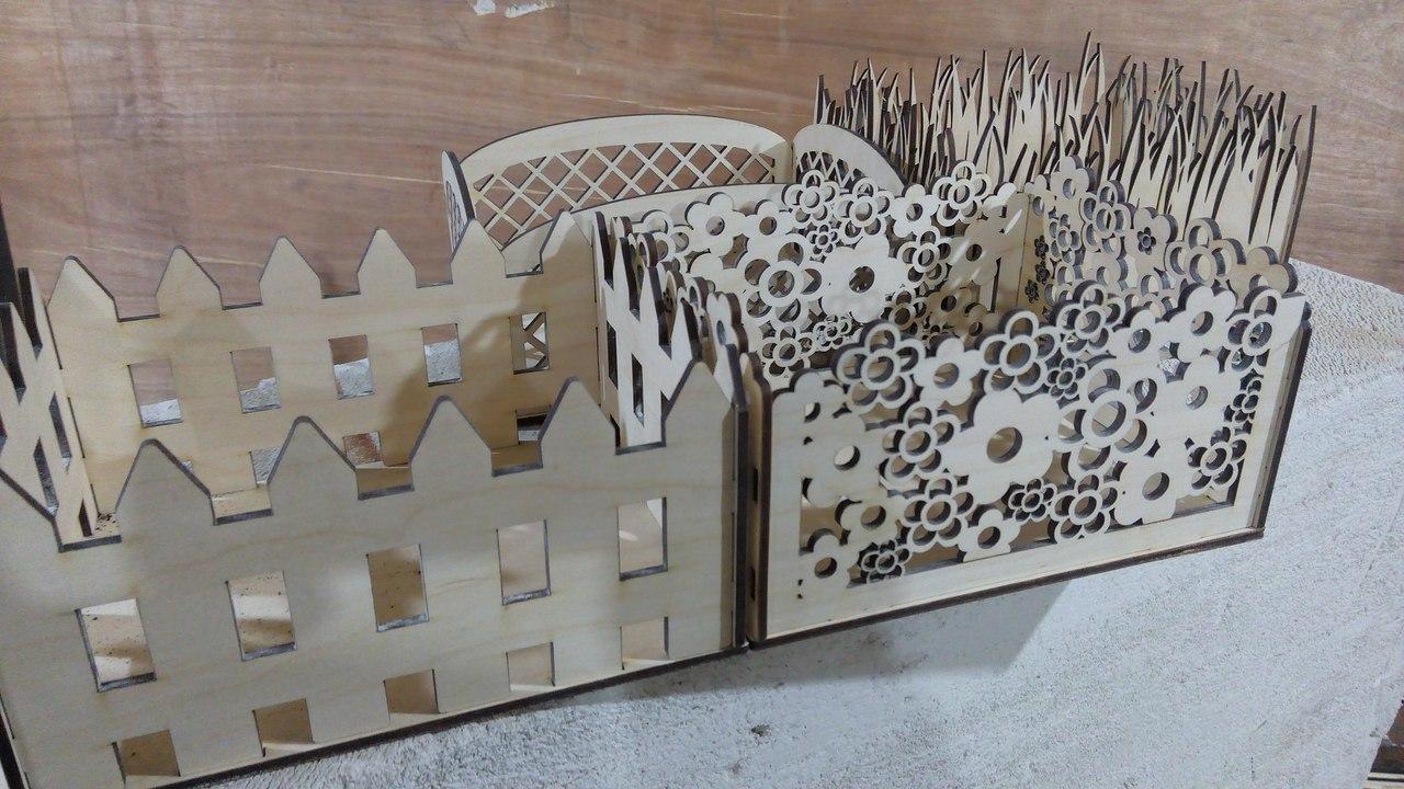 Decorative Baskets Laser Cut Free Vector