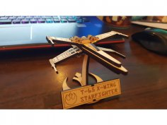 Laser Cut X-Wing Starfighter Free Vector