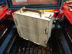 Laser Cut Tool Box With Handle 6mm Free Vector