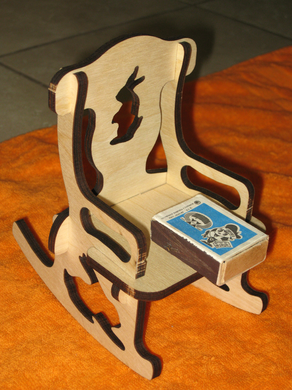 Laser Cut Doll Chair 6mm DXF File