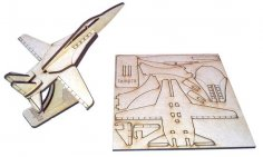 Laser Cut F-14 Fighter Jet Aircraft DXF File