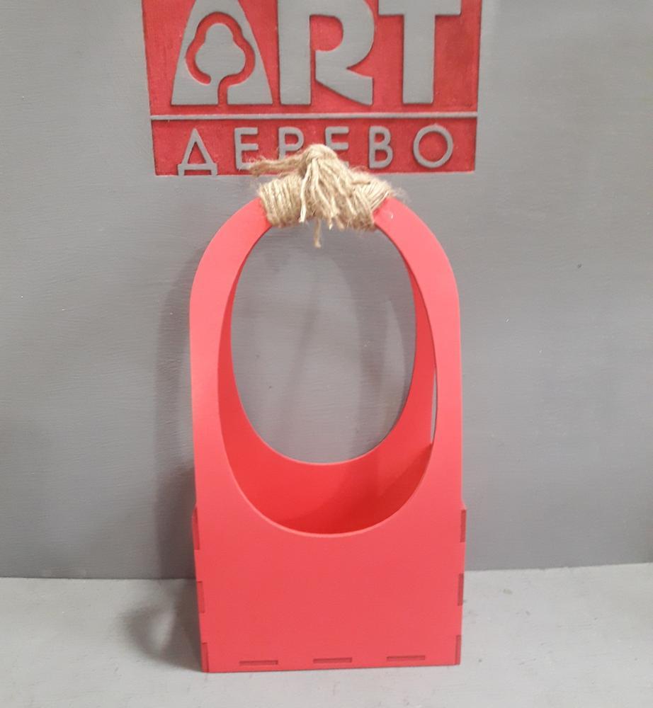 Laser Cut Wooden Flower Basket Free Vector