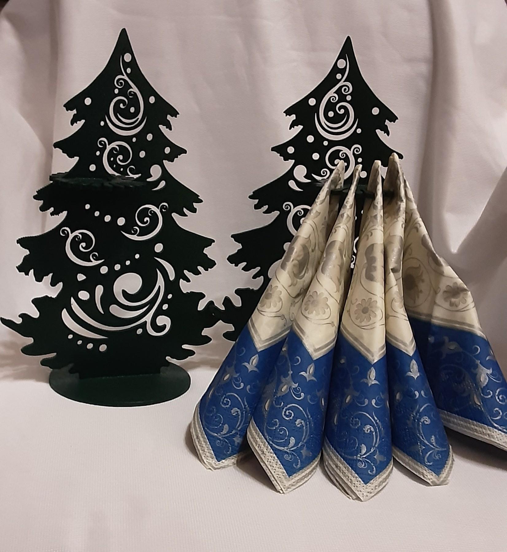 Laser Cut Napkin Holder Christmas Tree Free Vector