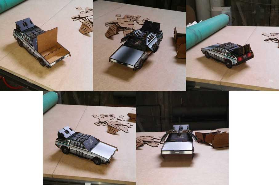 Laser Cut DeLorean Time Machine Back to the Future Car Free Vector