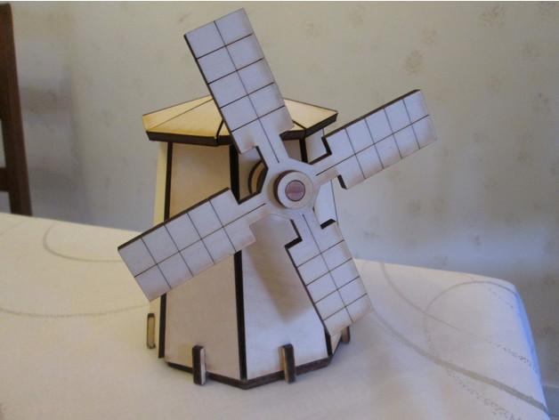 Laser Cut Windmill Template Free Vector