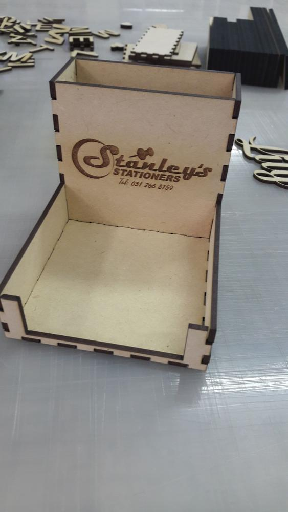 Laser Cut Pen Paper Holder 3mm DXF File
