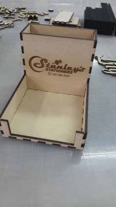Laser Cut Pen Paper Holder 3mm DXF File
