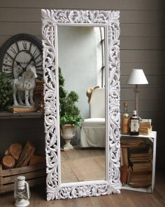Carved Decorative Mirror Frame 3D Model for CNC Stl File