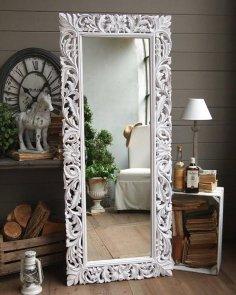 Carved Decorative Mirror Frame 3D Model for CNC Stl File