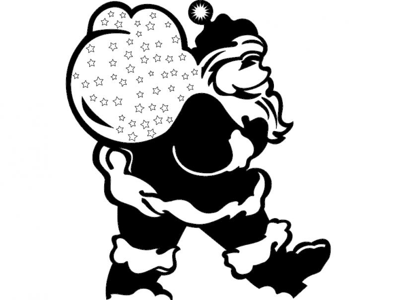 Kerstman DXF File