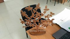 Laser Cut Tree Decoration DXF File
