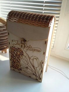 Laser Cut Decorative Wine Box 3mm Plywood Free Vector