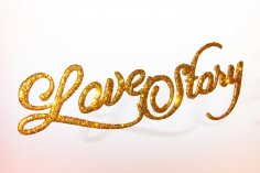 Laser Cut Glitter Decor Love Story DXF File