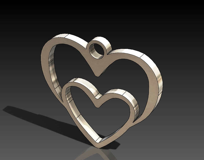 Heart in heart DXF file Free Download - 3axis.co