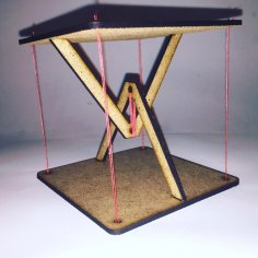 Laser Cut Anti Gravity Stand Tensegrity Table Free Vector