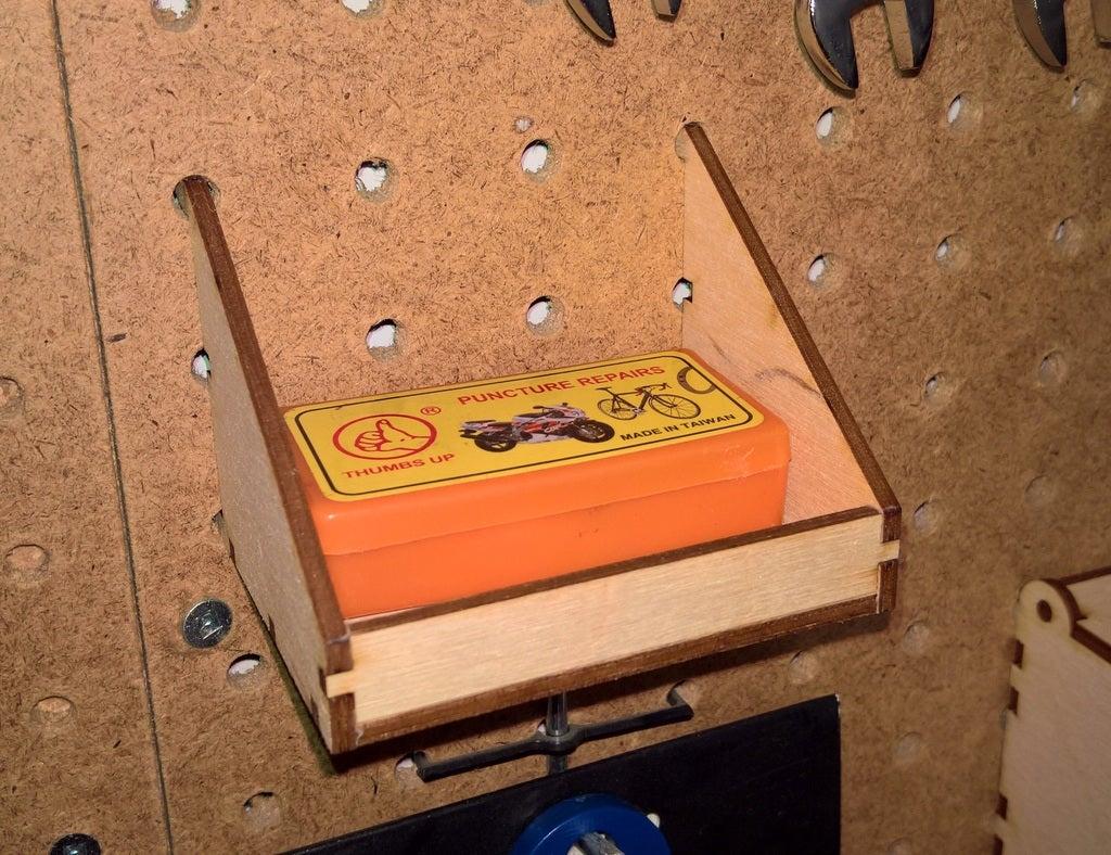 Laser Cut Pegboard Shelf 3mm PDF File
