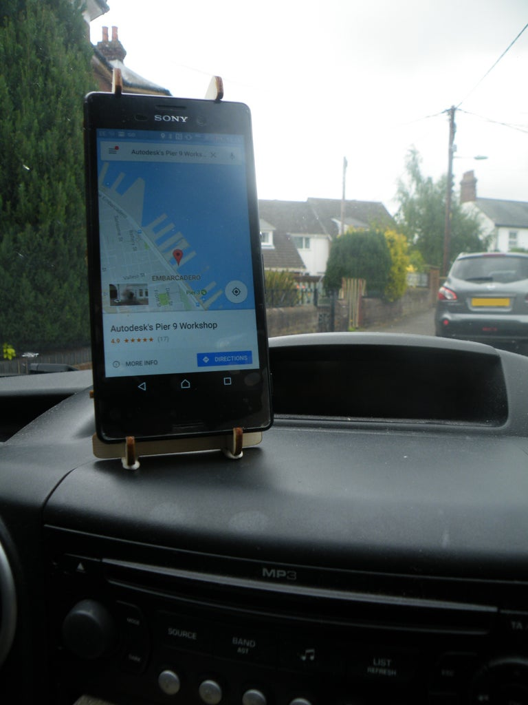 Laser Cut Dashboard Phone Stand Free Vector