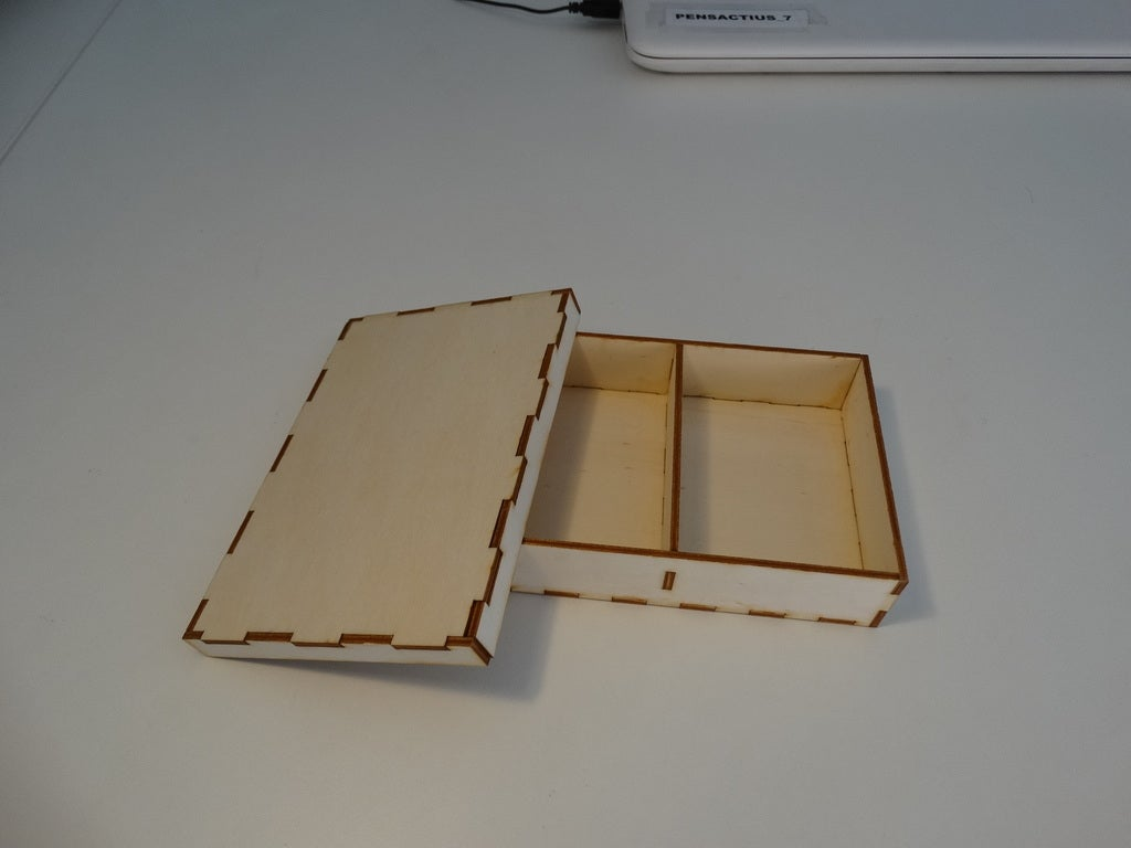 Laser Cut Sorting Box Storage Box With Lid 3mm DXF File