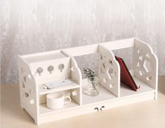 Laser Cut Shelf Storage Organizer Bookshelf Free Vector
