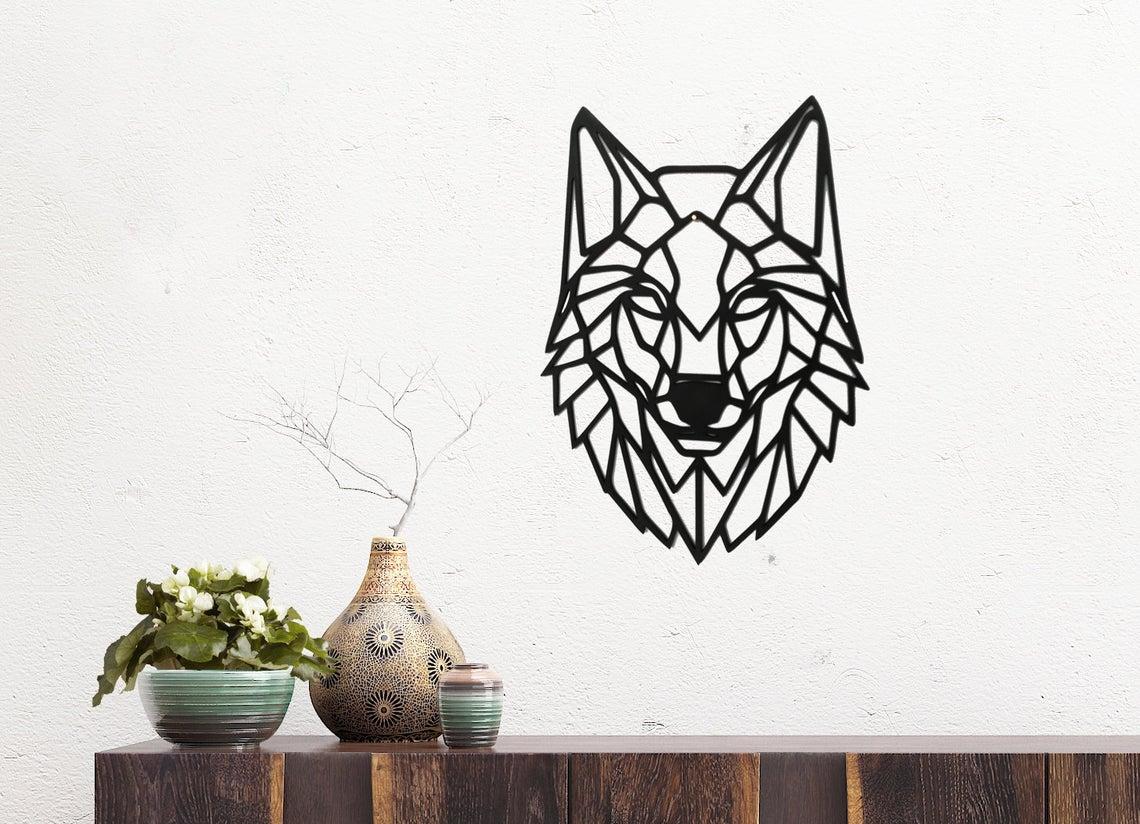 Laser Cut Wolf Wall Art Polygon Art Wall Decor 3d Sculpture DXF File