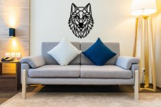 Laser Cut Wolf Wall Art Polygon Art Wall Decor 3d Sculpture DXF File