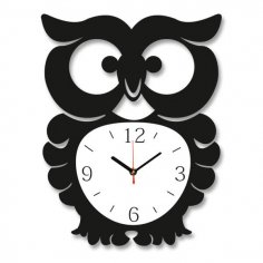 Laser Cut Owl Wall Clock Free Vector