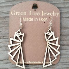 Laser Cut Exclusive Modern Earrings Design Free Vector