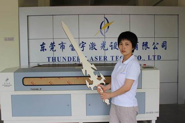 Laser Cut Wood Sword Free Vector