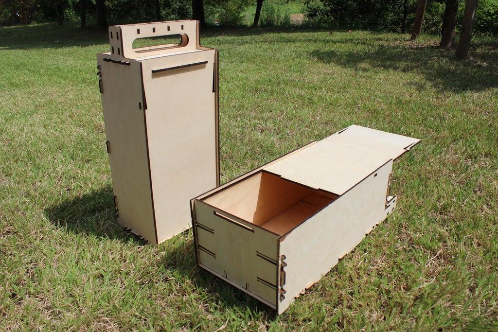 Laser Cut Portable Box Plywood 4mm PDF File