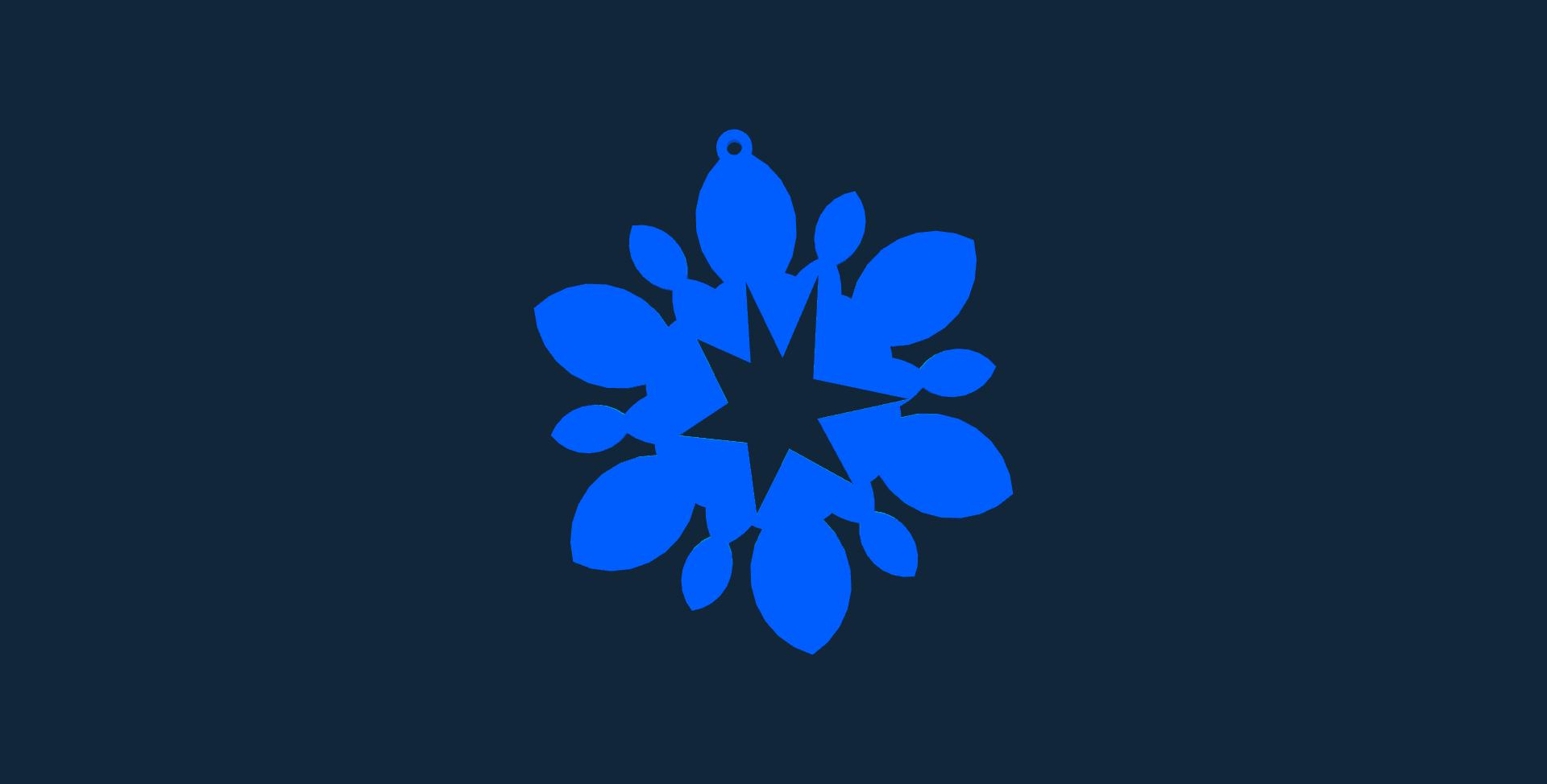 Snowflake design 6 stl file