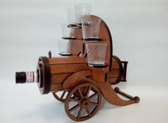 Laser Cut Cannon Bottle Holder Free Vector