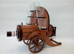 Laser Cut Cannon Bottle Holder Free Vector