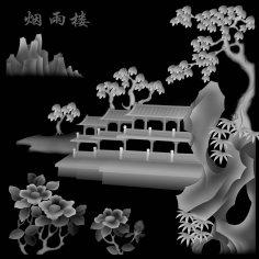 Landscape 3D Grayscale Image BMP File