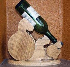 Bear Shape Wine Bottle Holder Free Vector
