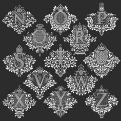 Ornamental Capital Letters Free Vector