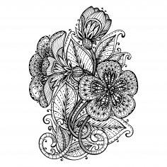 Fancy Flower Decor Free Vector