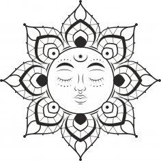 Mandala Sun Free Vector