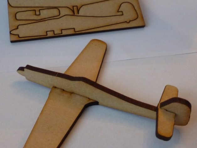 Lasercut FW190D Focke-Wulf Fighter Aircraft DXF File