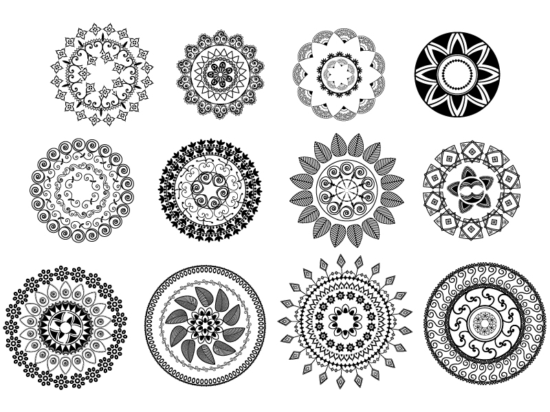 Classical Tradition Pattern Vector Set Free Vector