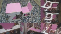 School Furniture Student Desk And Chair DXF File