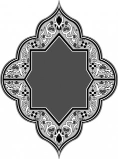Ornamental Pattern in Arabesque Style Ai File