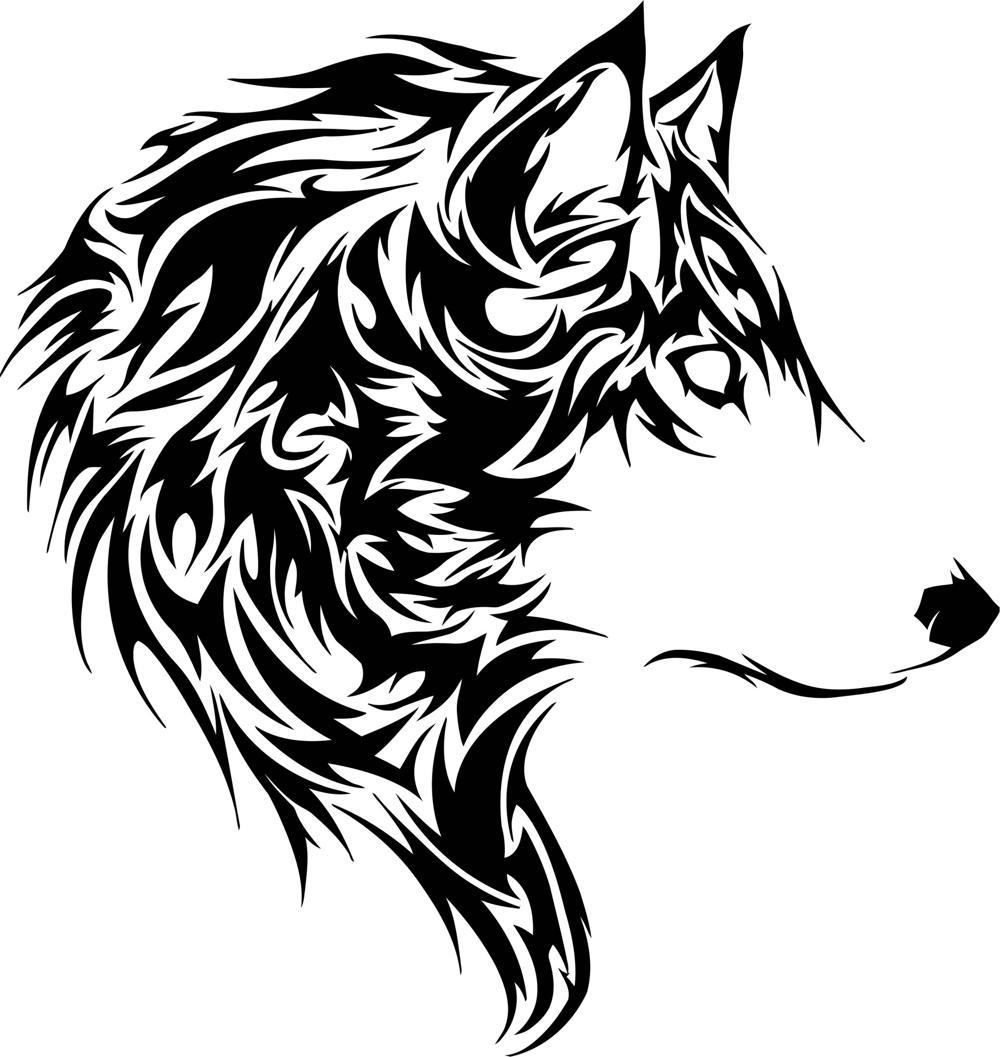 Wolf Stencil EPS File