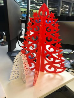 Laser Cut Acrylic Christmas Tree Template DXF File