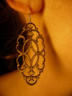 Laser Cut Wooden Decorative Earrings PDF File