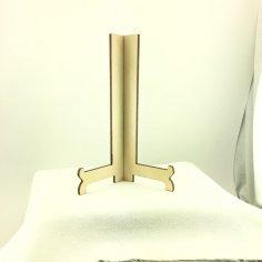 Laser Cut Wooden Plaque Stand SVG File