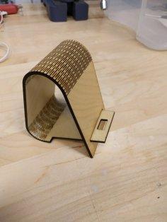 Laser Cut Living Hinge Phone Stand 3mm SVG File
