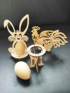 Laser Cut Easter Decorations Plywood Free Vector