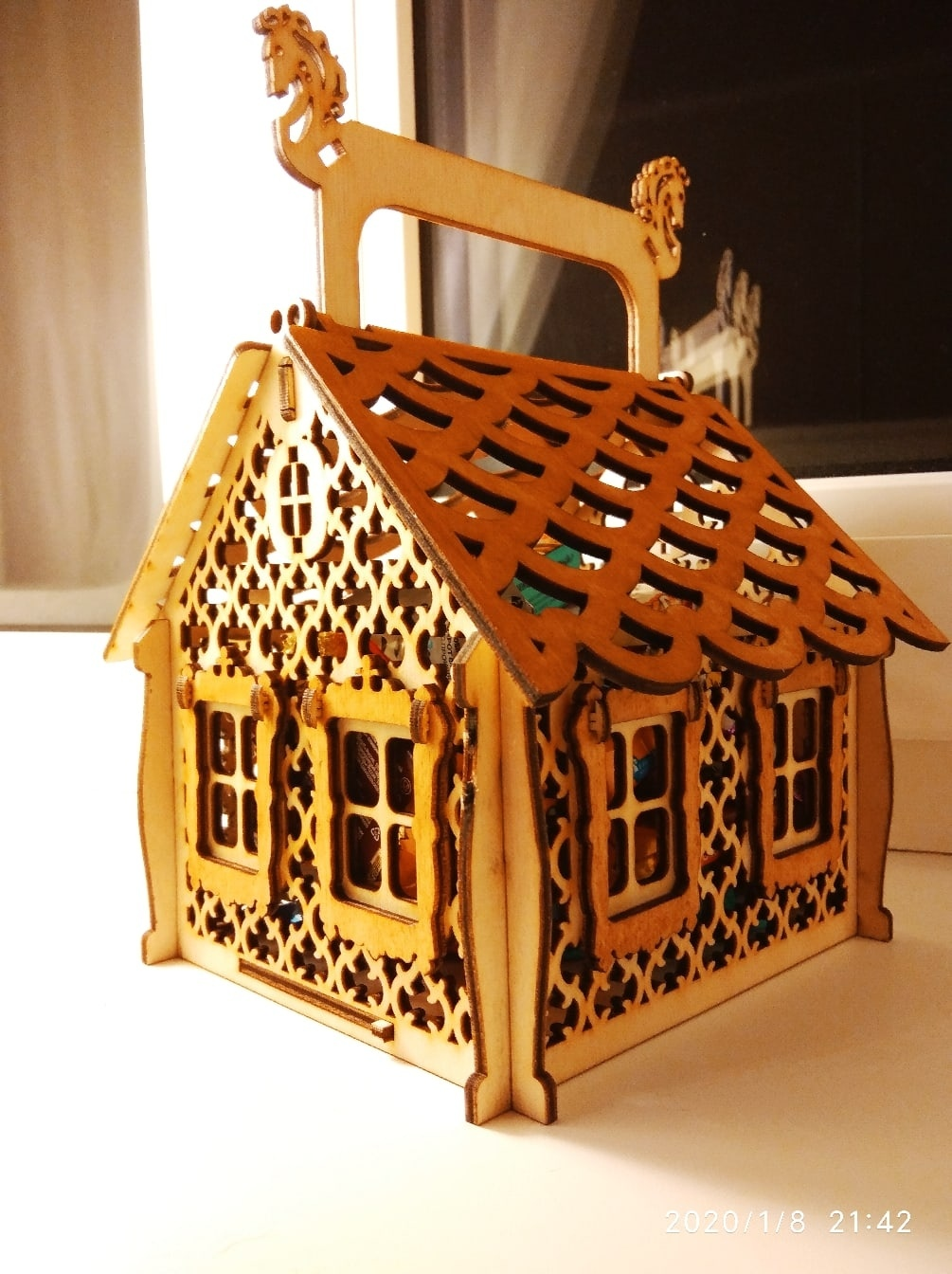 Laser Cut Christmas Candy House Free Vector