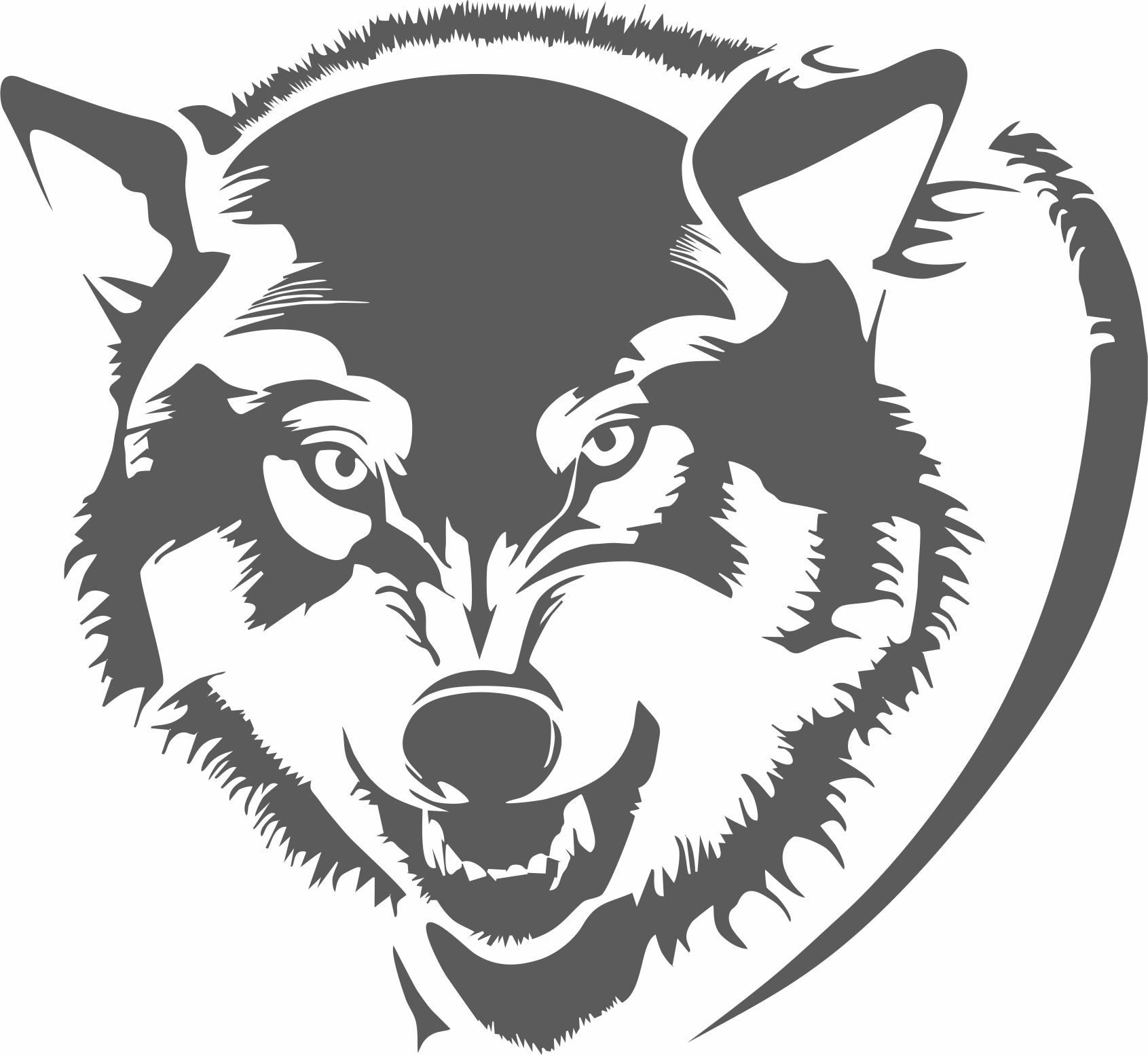Laser Cut Wolf Head Wall Decor Free Vector