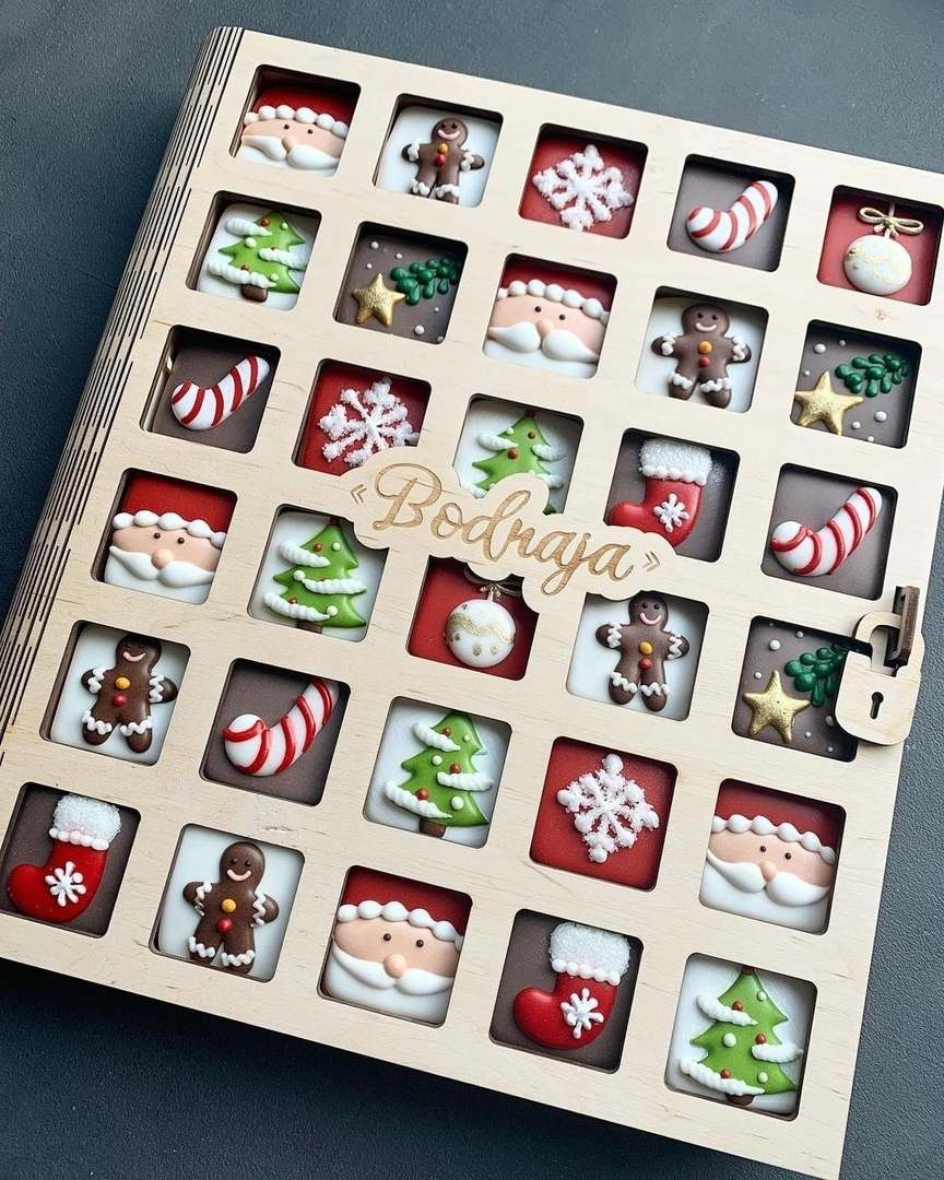 Laser Cut Gingerbread Box Christmas Eve Box Free Vector